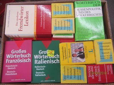 46 Bücher Wörterbücher verschiedene Sprachen verschiedene Fachthemen