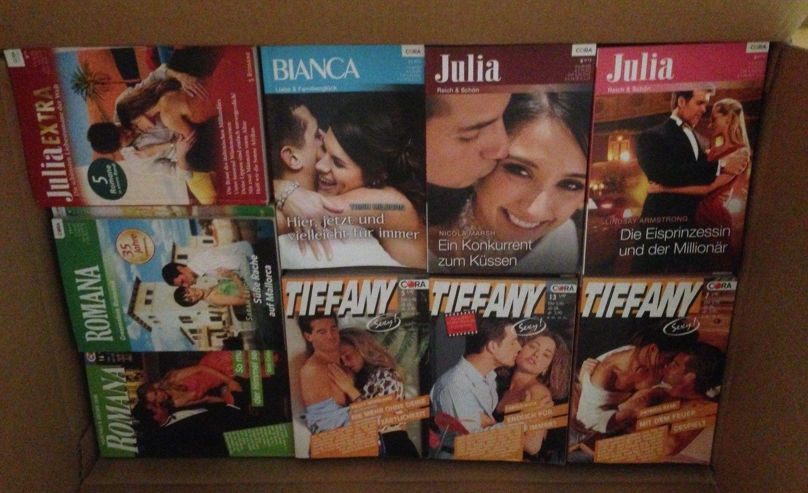 Ca. 90 Taschen-Romane der Serien Julia , Baccara , Bianca , Romana und Tiffany