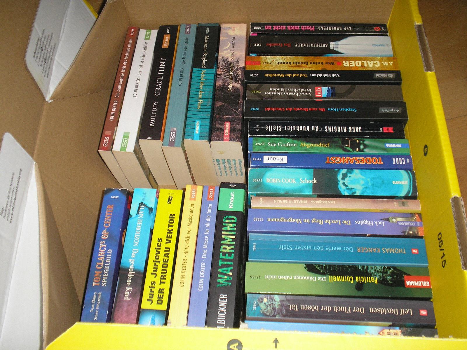 40 x Krimis , alles Taschenbücher, mal anschauen?????