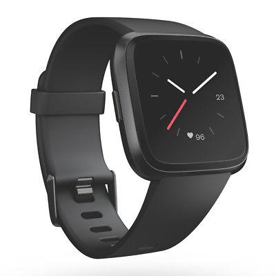 Fitbit VERSA Schwarz/Aluminium | black | Music Player Smartwatch dt. Händler
