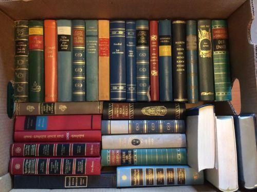 41 Bücher Romane etc. Lederrücken viele Klassiker Weltliteratur