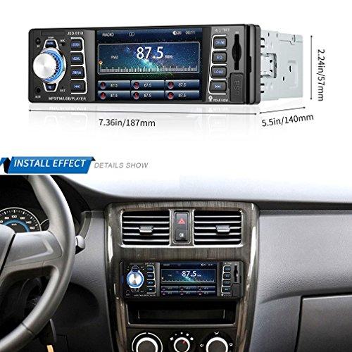 Autoradio, Autoradio MP5 player 4.1 inch 1080P-INDASH Radio, Bluetooth, MP3/MP4/MP5/USB/SD am/fm Auto Stereo unterstützt USB SD Karte Rückansicht-Video Aux Eingang Wireless Fernbedienung