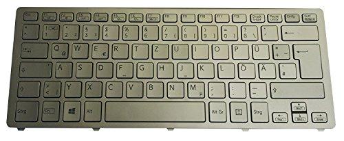 Tastatur für Sony SVF 14N SVF14N Series Silber mit silbernem Rahmen (mit Backlit für Win8)