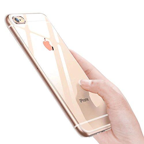 ikalula iPhone 6S Schutzhülle, iPhone 6 Silikon Hülle Weich Flexibel Klar Handyhülle Kratzfest Stoßfest Fallschutz Ultra Dünn Durchsichtig TPU Case Cover für iPhone 6S/iPhone 6, Transparent