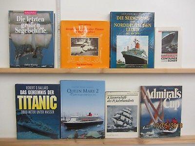 25 Bücher Bildbände Schiffe Schifffahrt Schiffstypen Dampfer Segelschiffe Boote