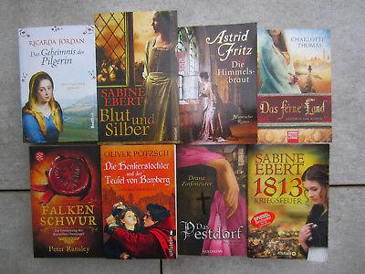 8 Historische Romane Buchpaket Büchersammlung Sammlung Konvolut Taschenbücher ge