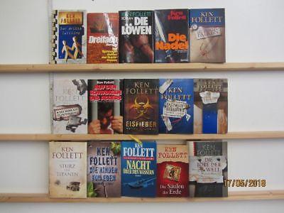 Ken Follett 15 Bücher Romane historische Romane Thriller Spionageromane