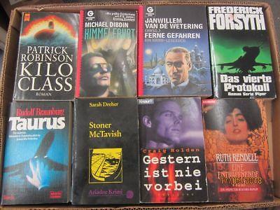 72 Bücher Romane Krimi Thriller Detektivromane Spionageromane