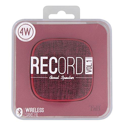 T'nB HPRECV1RD RECORD Bluetooth 4.1 Lautsprecher, 4W rot
