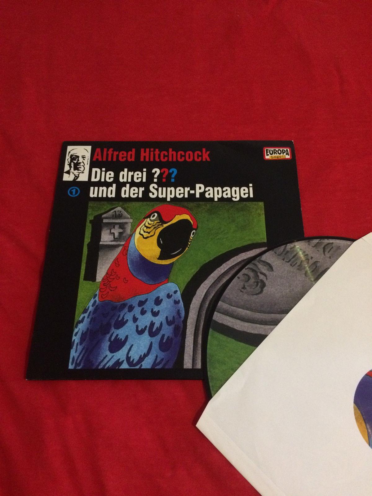 Die drei ??? 01 und der Super-Papagei. (drei Fragezeichen).Picture Vinyl LP.