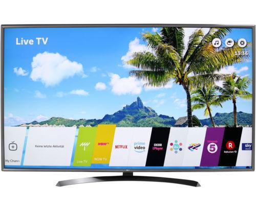 LG 75UJ675V 4K/UHD LED Fernseher 189 cm [75 Zoll] Schwarz