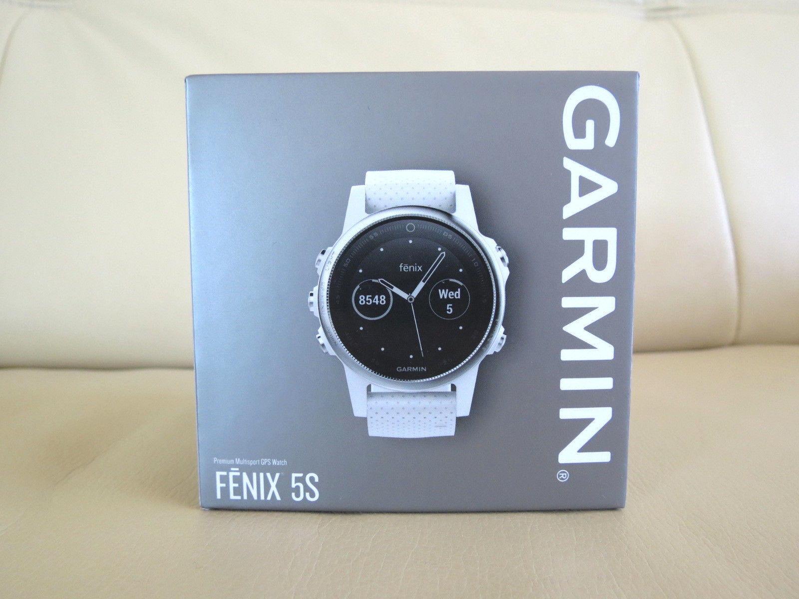 Neu Garmin Fenix 5S White Weiß Premium MultiSport GPS Watch - FREE SHIPPING !!!