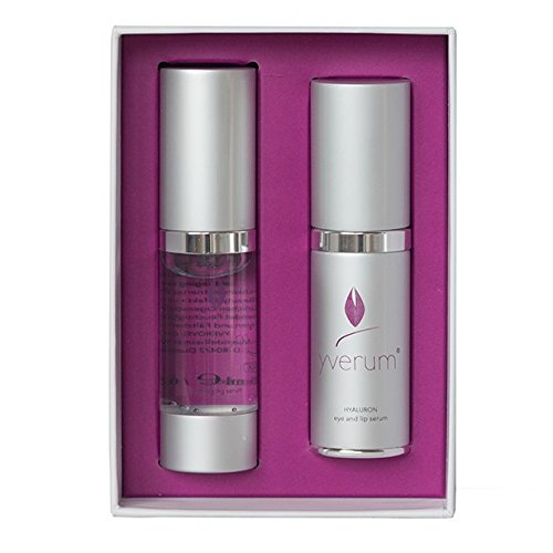yverum – naturally yours HYALURON Seren-Set - 15 ml HYALURON anti-aging serum & 15 ml eye and lip serum