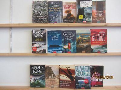 Elizabeth George 15 Bücher Romane Krimi Kriminalromane Thriller Detektivromane