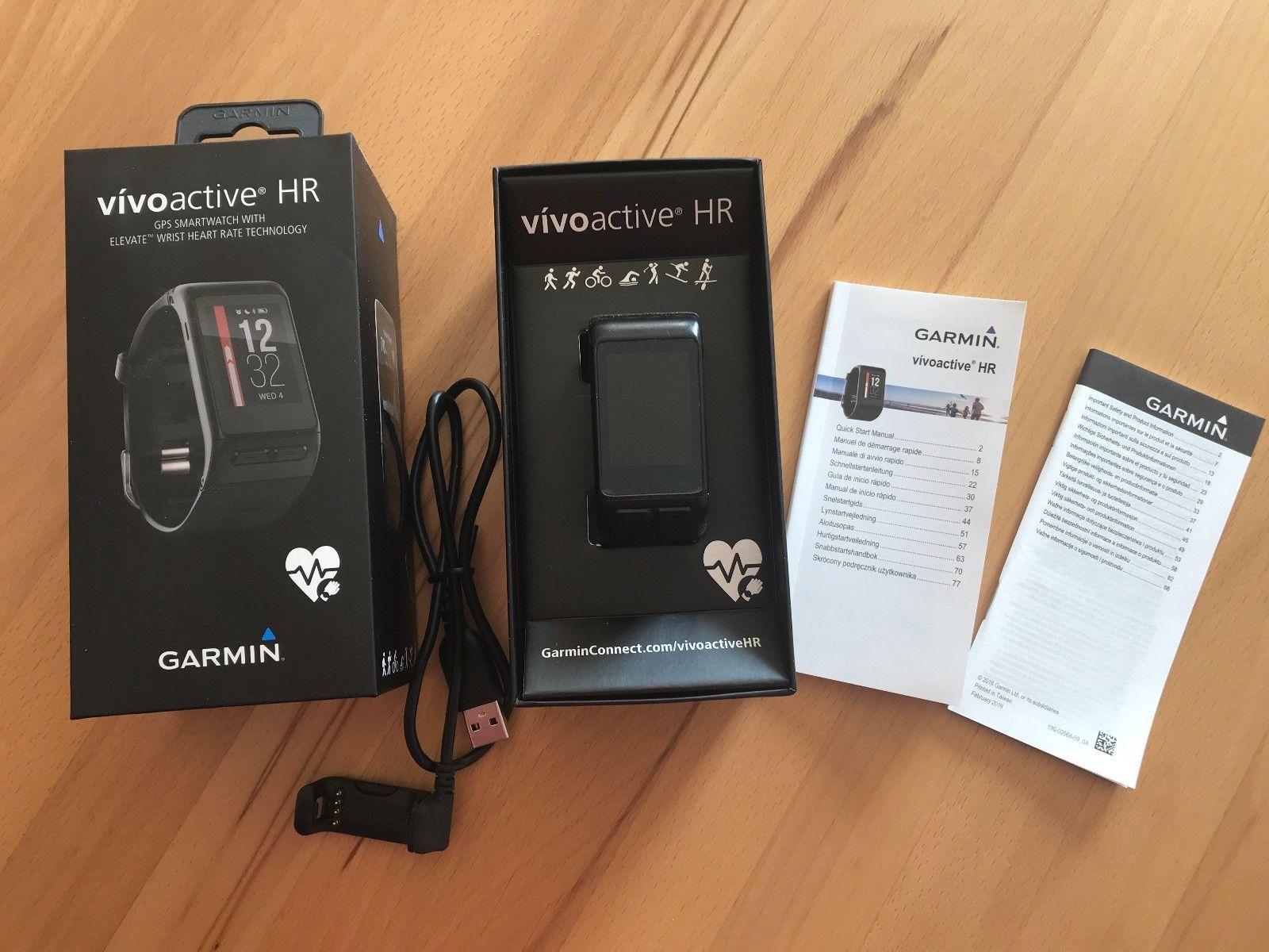 Garmin Vivoactive HR - Smartwatch schwarz