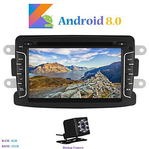 Android 8.0 Car Autoradio, Hi-azul In-dash 1 Din 8-Core 64Bit RAM 4G ROM 32G Car Radio 7