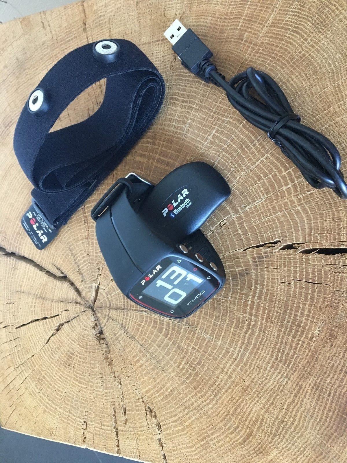 Polar M400 GPS-Trainingsuhr mit Brustgurt, Farbe schwarz