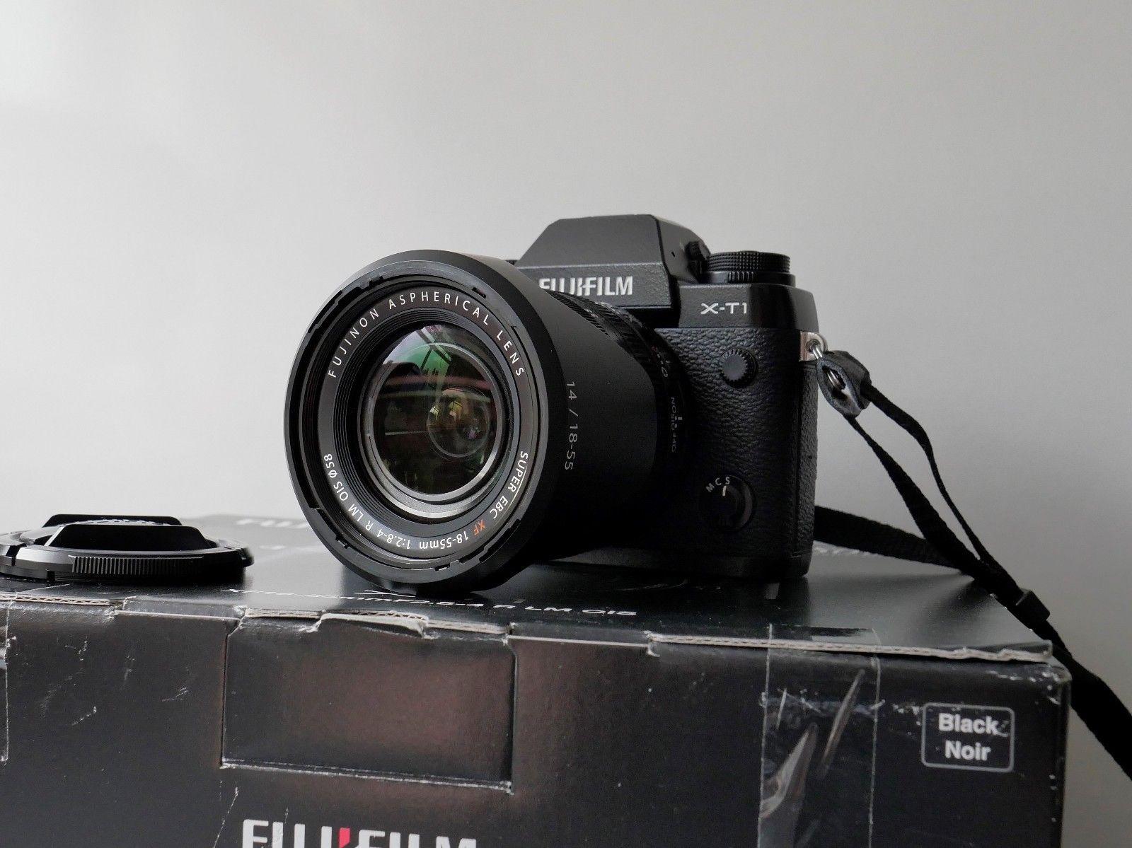 Fujifilm X-T1 16.3 MP - Schwarz (Kit mit  XF 18-55mm f/2.8-4.0 OIS) neuwertig