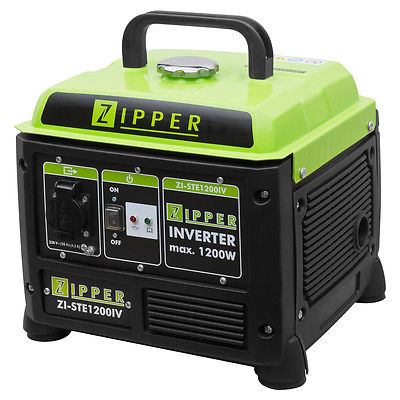 Zipper Inverter Stromerzeuger ZI-STE1200IV 230V 1kW 4-Takt Otto Notstromaggregat