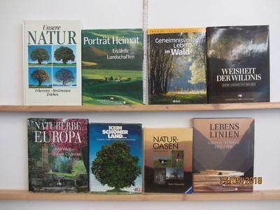 19 Bücher Bildbände Natur Umwelt Umweltschutz Naturparadiese Naturoasen Paket 1