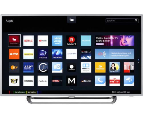 Philips TV 55PUS6262 4K/UHD LED Fernseher 139 cm [55 Zoll] Schwarz