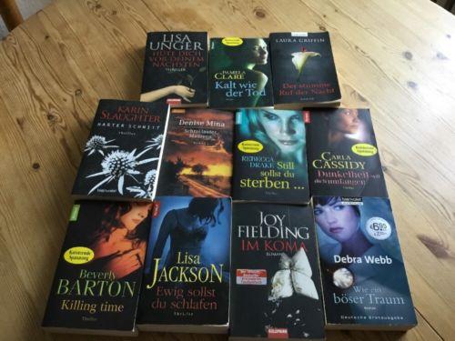 11 Bücher: Paket Konvolut  Krimi Thriller Roman Psychothriller TB nw spannend!!