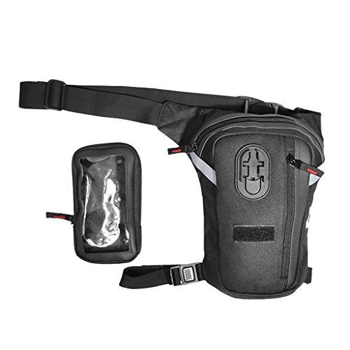 Gazechimp Brieftasche Abnehmbar Mode Beintasche Mehrzweck Tasche für alle Motorräder
