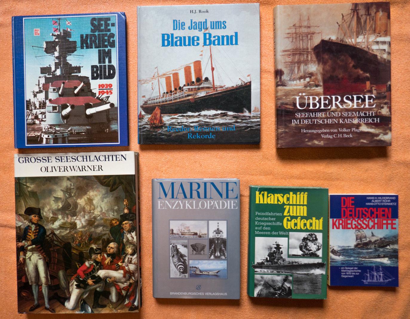 7 Bücher 2. Weltkrieg Sammlung Literatur Militär Posten Buch Konvolut, Marine..