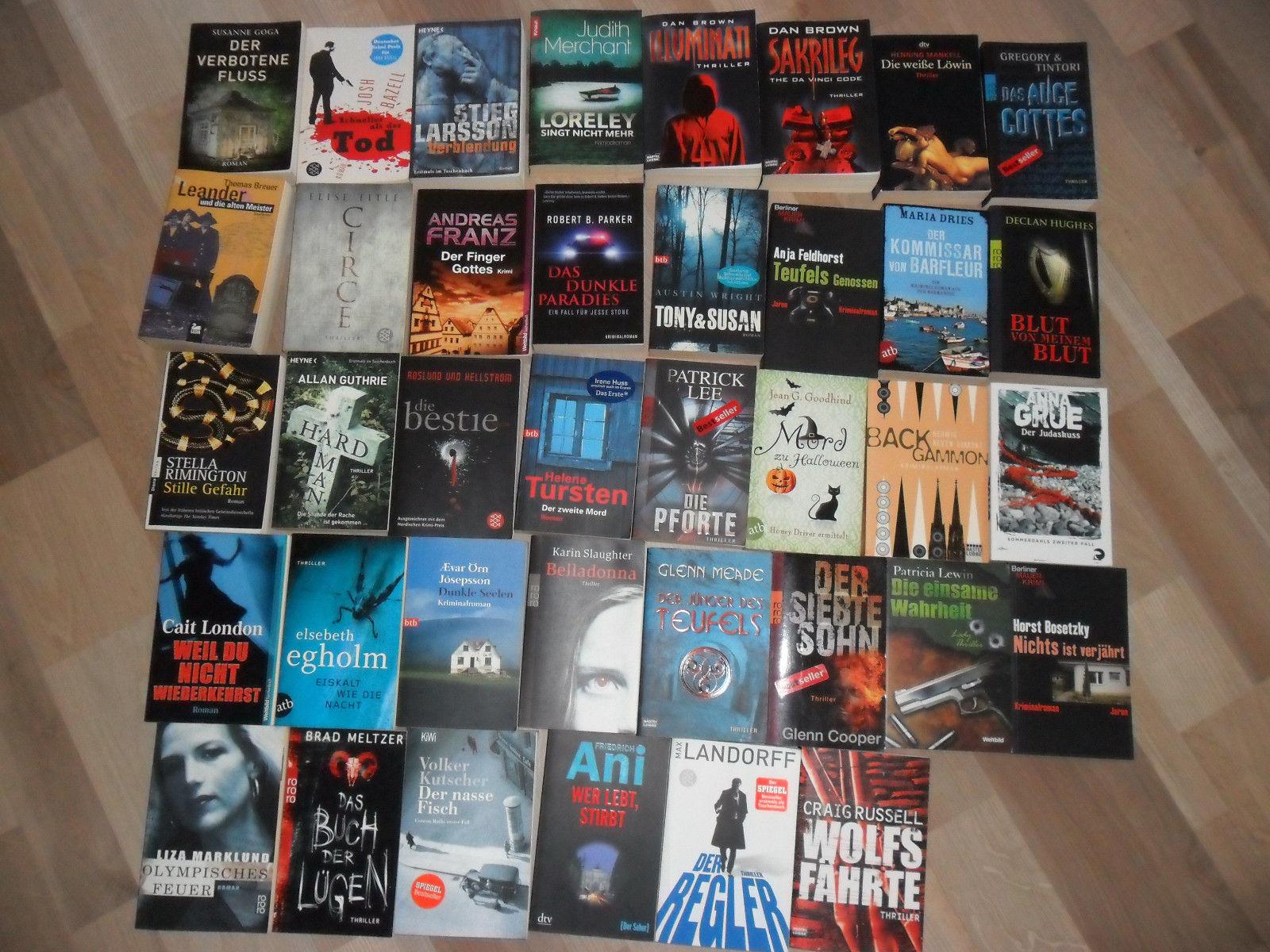 58 Bücher Konvolut Thriller Romane Bestseller Krimi Erotik Historisch Sammlung