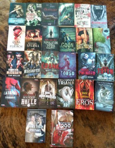 Festa Verlag Buch Sammlung, Horror, Extrem, Thriller, Rar, Special Edition
