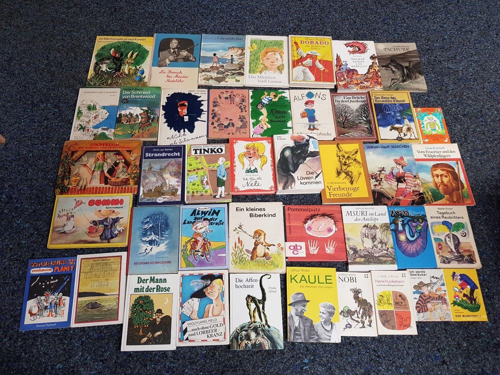 42 Stück alte Kinderbücher / Jugendbücher aus DDR-Zeiten