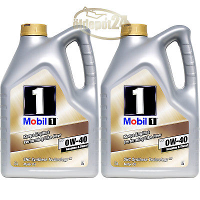 Mobil 1 FS 0W-40 2x5 Liter ACEA A3/B3 A3/B4 API SN/SM/SL/SJ VW 50200 / 50500