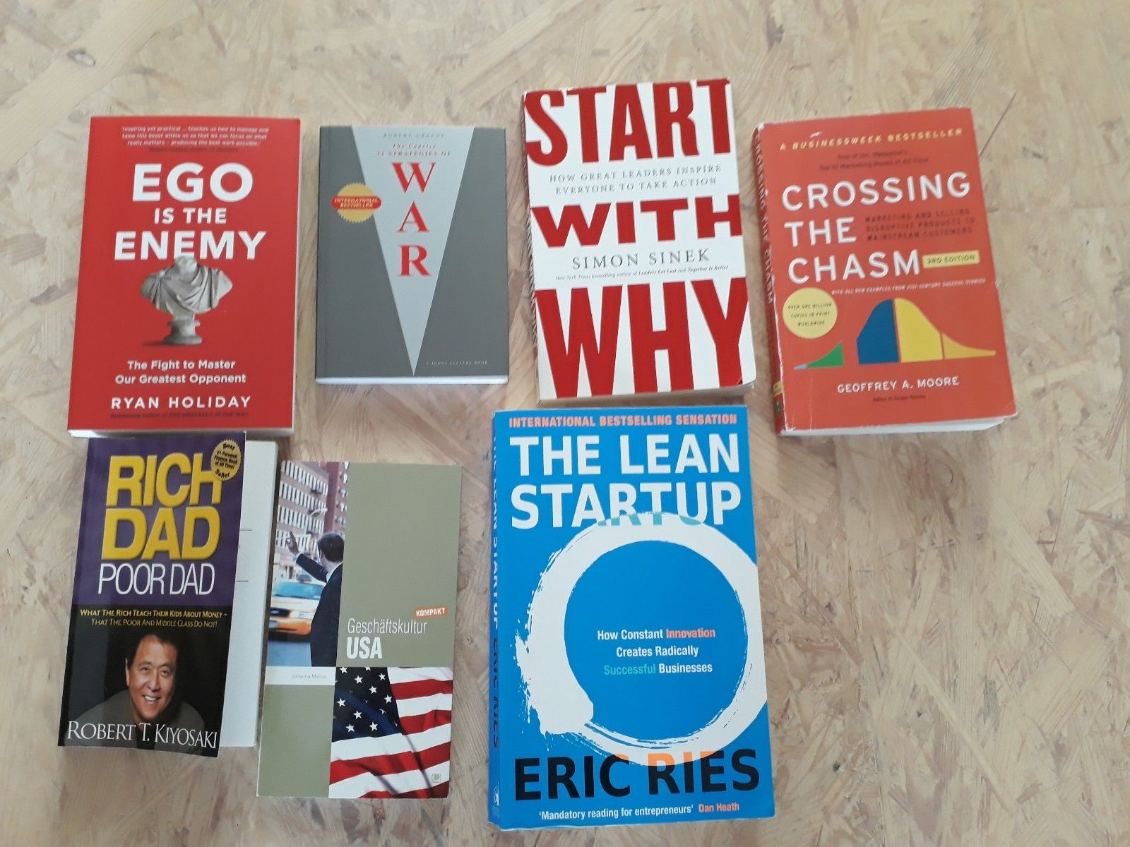 Business Books, Start-Up Bücher, Lean Startup, Start With Why, Ego is the enemy