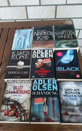 Paket Bücher Krimi, Thriller 9 St.