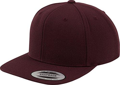 Flexfit Classic Snapback, Unisex Kinder Kappe, 6089M, rot (maroon/maroon), OSFA