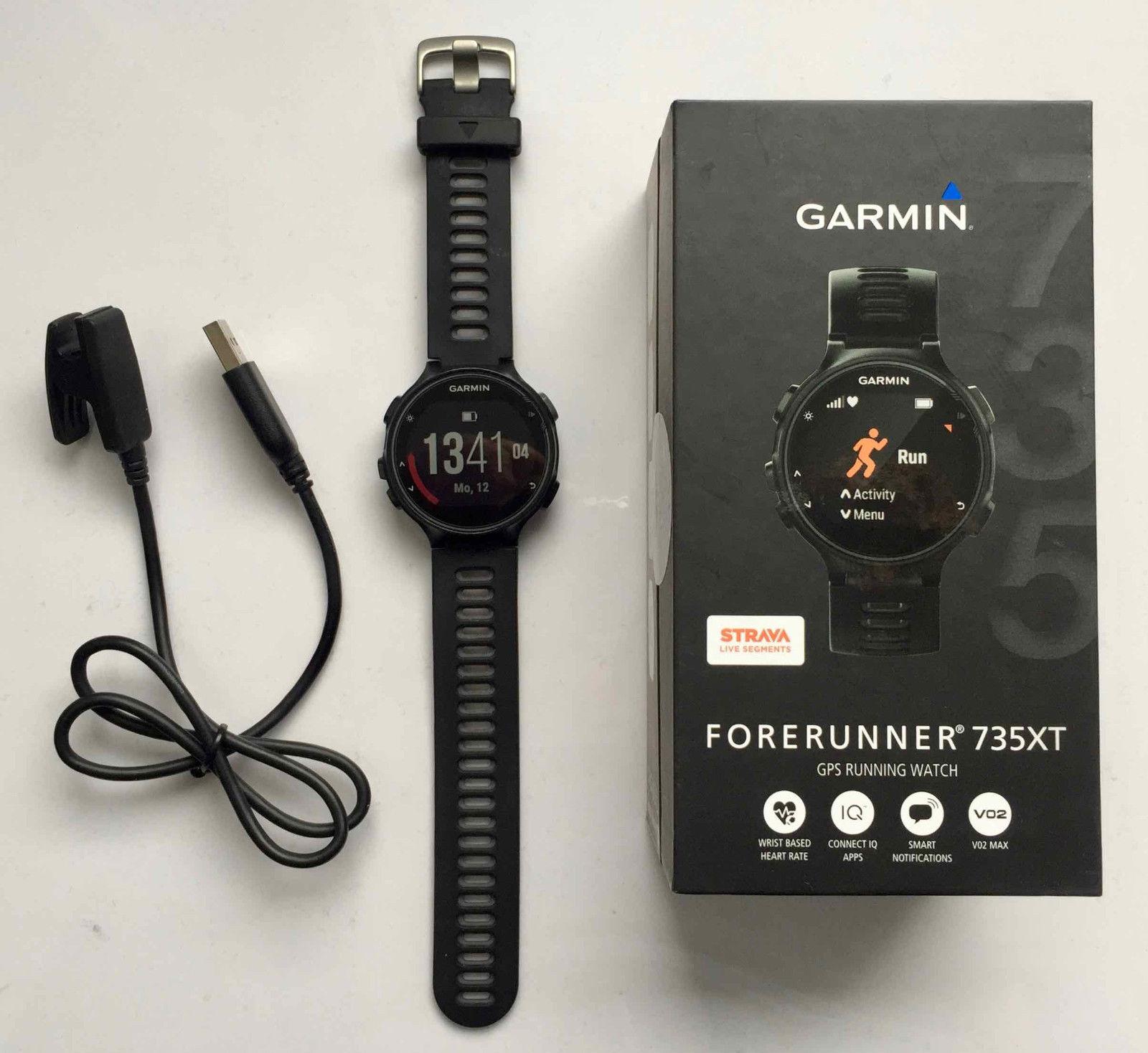GPS Pulsuhr Garmin Forerunner 735 XT, schwarz, sehr guter Zustand, wenig gebrauc
