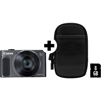 CANON Powershot SX620 HS Digitalkamera Schwarz, 20.2 Megapixel, 25x opt. Zoom, T