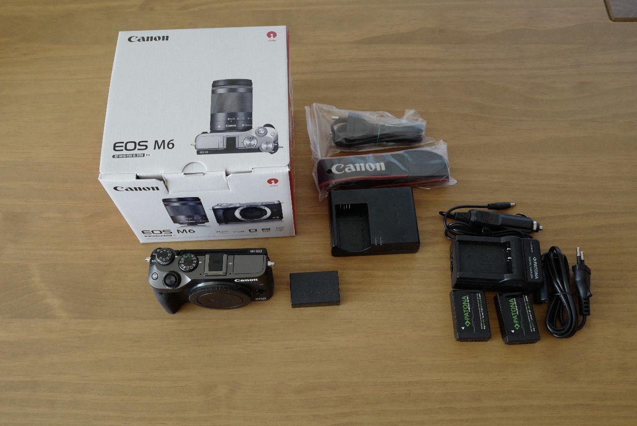 Canon EOS M6 Gehäuse schwarz neuwertig   unter 400 Auslösungen