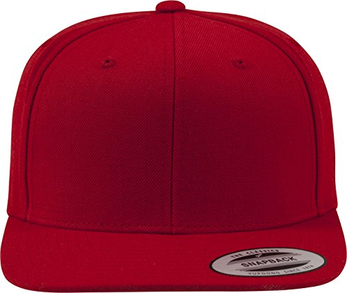 Flexfit Classic Snapback, Unisex Kinder Kappe, 6089M, rot (red/red), OSFA