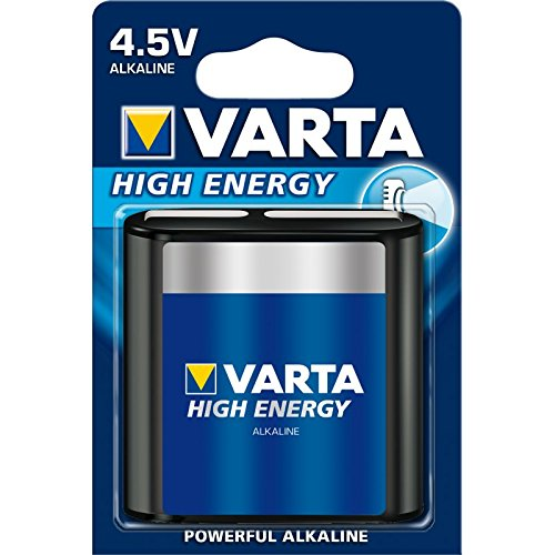 Varta High Energy Batterie 4,5 V Block Alkaline Batterien 3LR12 - 1er Pack
