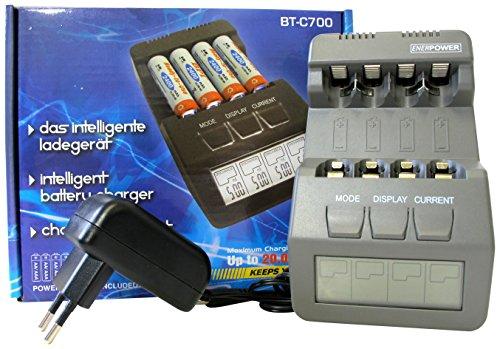 Enerpower EP-BTC700 Microprozessor, Ladegerät mit LCD schwarz