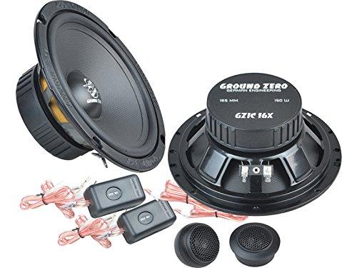Ground Zero Iridium Lautsprecher Kompo-System 300 Watt VW Golf VI 6 alle Einbauort vorne : Türen / hinten : Türen/Seitenwand Rücksitz
