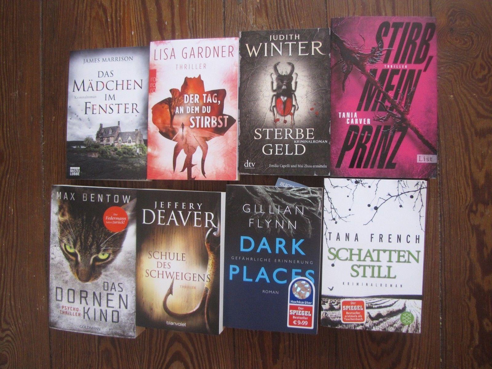 Thriller Bücher Paket 18 Bücher Flynn Deaver Bentow Jackson Barclay Coben