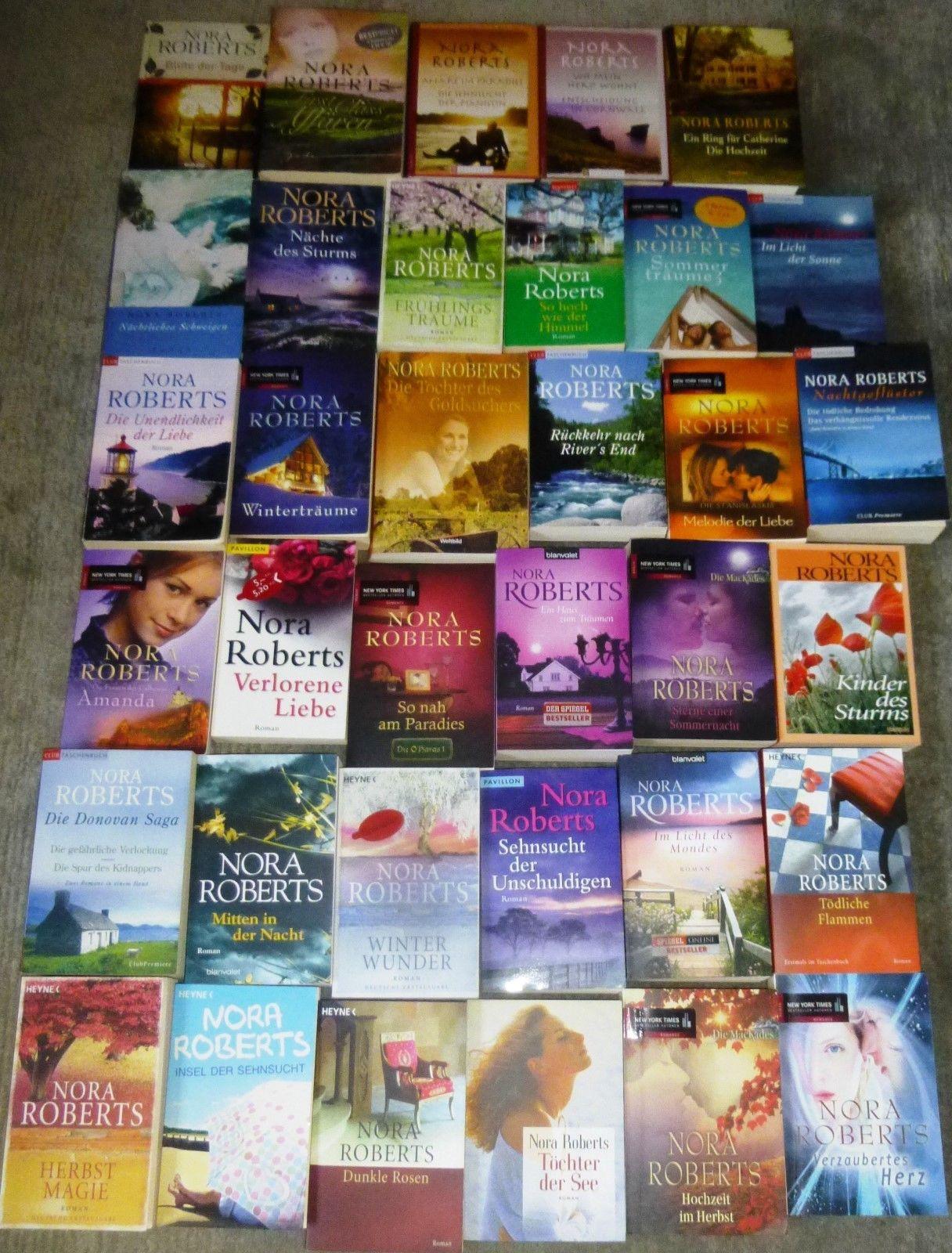 Nora Roberts, 60 Bücher, 75 Romane, diverse Verlage,  Hardcover/Taschenbuch