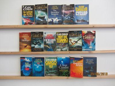 Clive Cussler 17 Romane Krimi Thriller Psychothriller  Top Titel