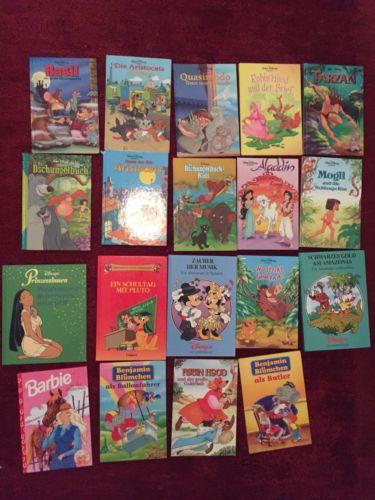 19 Kinderbücher Walt Disney Benjamin Blümchen Set Sammlung Lot Bücherpaket