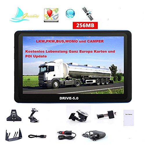 5 Zoll GPS Navi, Navigationssystem, Navigationsgerät, für LKW TRUCK mit-Brueckenhoehenwarnung und TMC Verkehrsfunkempfänger. Rastplatzsuche, 24 V, über 50 Länder EUROPA. Neuste Karten sowie Radarwarner , Erweiterbarer Speicher, Fahrspurassistent