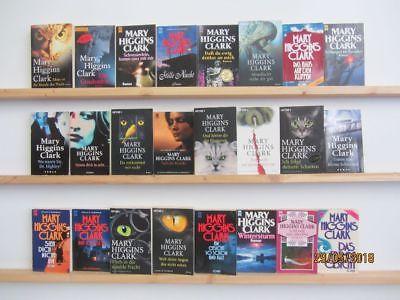 Mary Higgins Clark 24 Bücher Romane Krimi Kriminalromane Thriller Psychothriller
