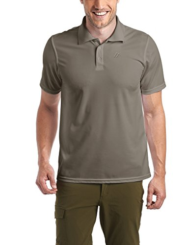 Maier Sports Herren Polo 1/2 Arm T-shirt, teak, Gr. L