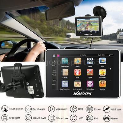 Auto GPS HD Touchscreen Navigation LKW GPS Navigatoren FM Video 8GB + Karte